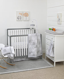 Nojo Gray Elephant Dream 8-Pc. Crib Set