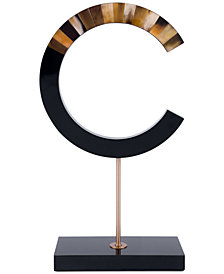Zuo C-Shape Figurine with Marble Stand