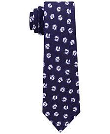 Tommy Hilfiger Men's Indigo Floral Neat Slim Tie