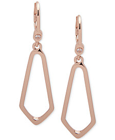 Ivanka Trump Rose Gold-Tone Open Drop Earrings