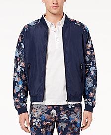 Daniel Hechter Paris Men's Adam Floral-Print Raglan-Sleeve Bomber Jacket