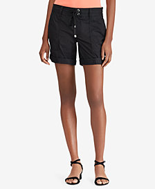 Lauren Ralph Lauren Twill Drawstring Cotton Shorts