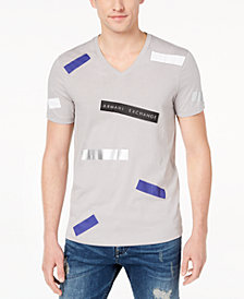 A|X Armani Exchange Men's Graphic-Print V-Neck T-Shirt