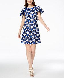 Calvin Klein Lace Capelet Dress