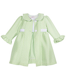 Blueberi Boulevard 2-Pc. Dot-Print Coat & Dress Set, Little Girls (2-6X)