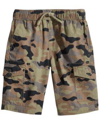 Camo-Print Cotton Cargo Shorts, Toddler Boys, Created for Macy's