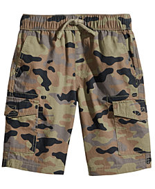 Epic Threads Camo-Print Cotton Cargo Shorts, Little Boys, Created for Macy's
