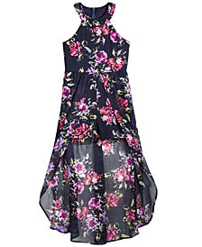 Crystal Doll Floral-Print Maxi Romper, Big Girls