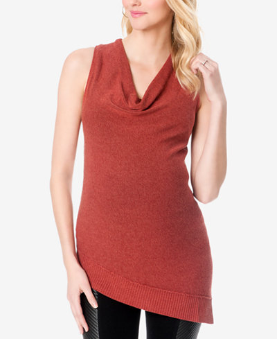 A Pea In The Pod Maternity Sleeveless Cowl-Neck Sweater