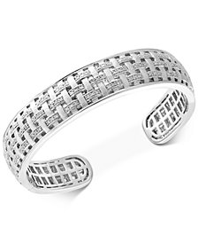 EFFY® Diamond Woven Bangle Bracelet (1/3 ct. t.w.) in Sterling Silver