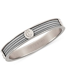 Logo Bangle Bracelet in Stainless Steel