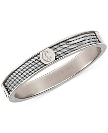 Charriol Logo Bangle Bracelet in Stainless Steel