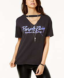 Bravado Juniors' Prince Purple Rain Graphic Choker T-Shirt