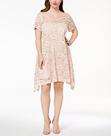 Robbie Bee Plus Size Lace A-Line Dress