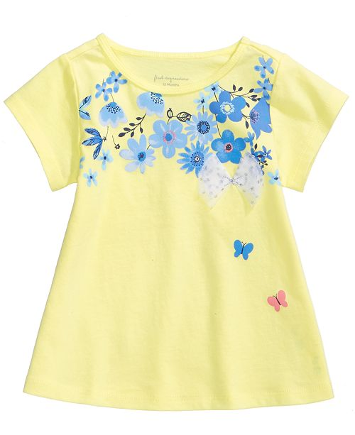 First Impressions Graphic-Print T-Shirt, Baby Girls, Created for Macy's