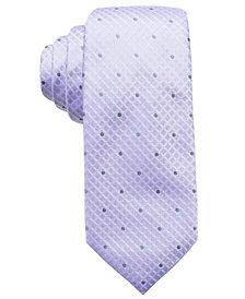 Ryan Seacrest Distinction™ Men's Capri Tonal Dot Grid Silk Slim Tie, Created for Macy's