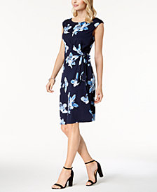 Connected Floral-Print Wrap Dress