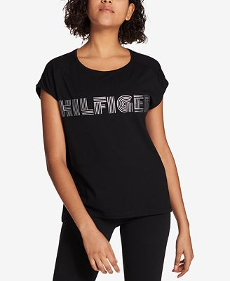 Tommy Hilfiger Metallic Logo-Print T-Shirt, Created for Macy's
