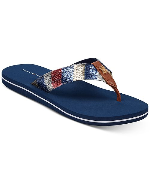 12b51d6d6e42 Tommy Hilfiger Women s Contina Flip Flops   Reviews - Sandals   Flip ...
