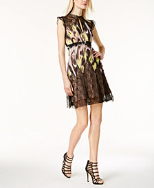 Just Cavalli Printed Lace Dress