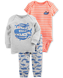 Carter's 3-Pc. Graphic-Print T-Shirt, Bodysuit & Pants Set, Baby Boys