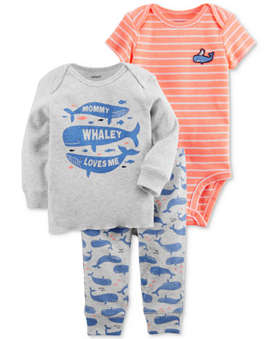 Carter's 3-Pc. Graphic-Print T-Shirt, Bodysuit & Pants Set, Baby Boys