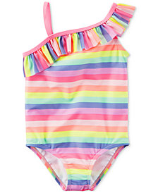 Carter's Rainbow Stripe Ruffle Swimsuit, Baby Girls
