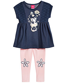Disney's® Minnie Mouse 2-Pc. Graphic-Print Tunic & Leggings Set, Baby Girls