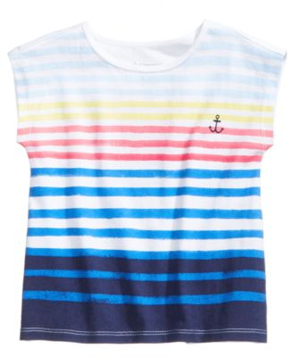 Striped Cotton T-Shirt, Baby Girls, Created for Macy's