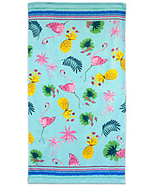 "Dena Flamingo Toss 34"" x 66"" Printed Beach Towel"