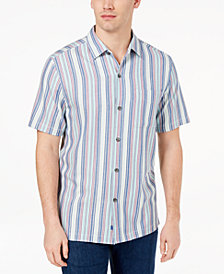 Tommy Bahama Men's Tropical Stripe Silk Shirt, Created for Macy's