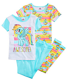 My Little Pony 4-Pc. Awesome Cotton Pajama Set, Little Girls  & Big Girls