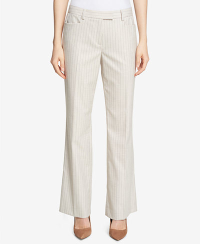 Tommy Hilfiger Pinstriped Bootcut Pants