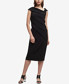 DKNY Asymmetrical-Collar Sheath Dress, Created for Macy's