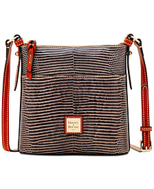 Dooney & Bourke Lizard-Embossed Leather Small Crossbody