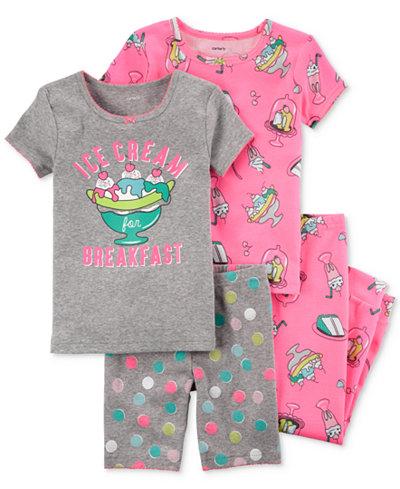 Carter's 4-Pc. Ice Cream Cotton Pajama Set, Little Girls & Big Girls