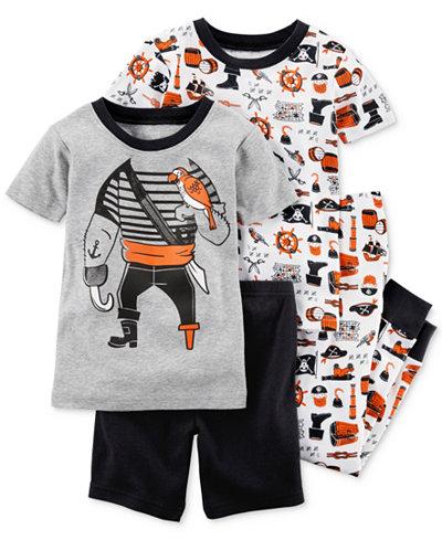 Carter's 4-Pc. Pirates Cotton Pajama Set, Toddler Boys
