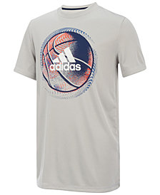 adidas Basketball-Print T-Shirt, Little Boys