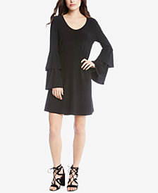 Karen Kane Taylor Tiered-Sleeve A-Line Dress