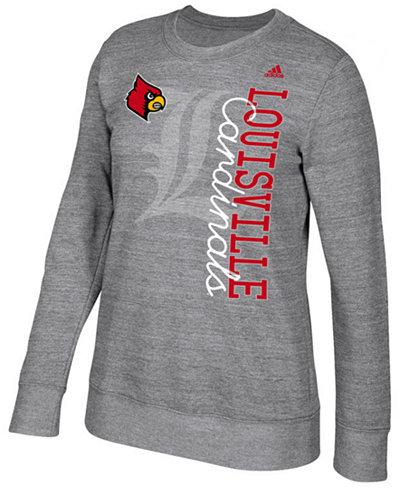 adidas Women's Louisville Cardinals Color Merge Crew Sweatshirt