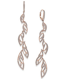 Danori Rose Gold-Tone Pavé Vine Drop Earrings, Created for Macy's