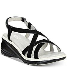 Jambu Ginger Strappy Wedge Sandals
