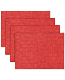 Nortiake Colorwave Raspberry 4-Pc. Placemat Set