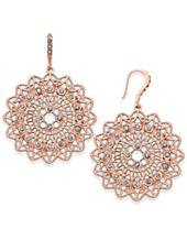 I.N.C. Rose Gold-Tone Pavé Filigree Drop Earrings, Created for Macy's