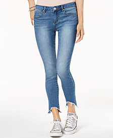 Articles of Society Carly Skinny Crop Ripped-Hem Jeans