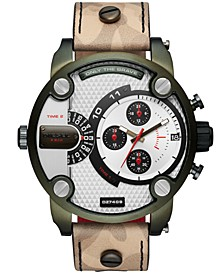 Men's Little Daddy Camo Leather Strap Watch 52mm