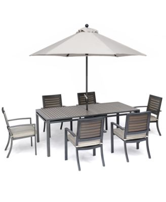 Furniture Marlough Ii Outdoor Dining Collection With Sunbrella
