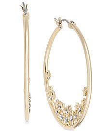 I.N.C. Gold-Tone Crystal Star Hoop Earrings, Created for Macy's