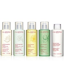 Clarins Cleansing Milk, Toning Lotion & Moisture-Rich Body Lotion - Luxury Sizes