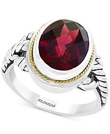 EFFY® Garnet Ring (3-9/10 ct. t.w.) in Sterling Silver & 18k Gold